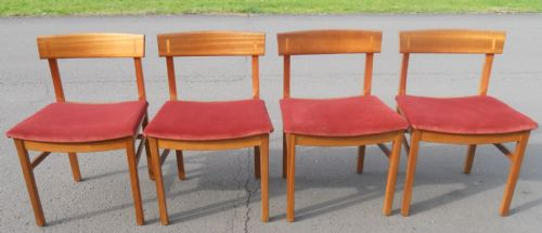 Set of Four Teak Bar Back Dining Chairs